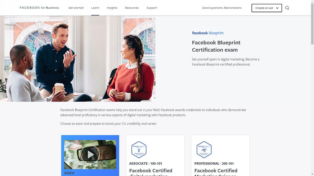 Facebook Blueprint Online Courses
