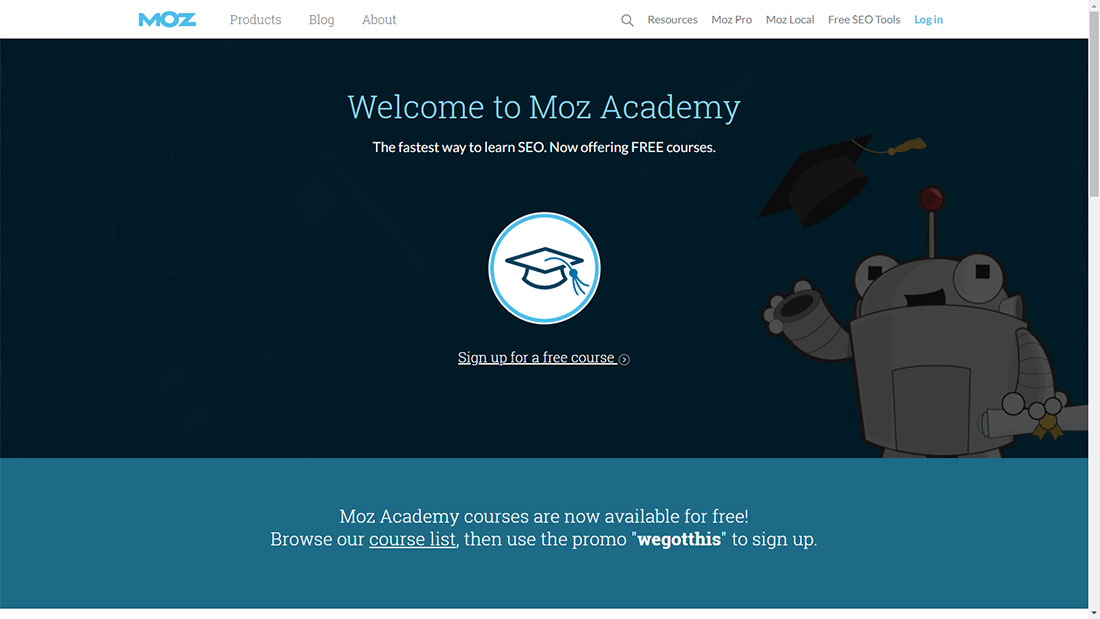 MOZ Free Online Courses